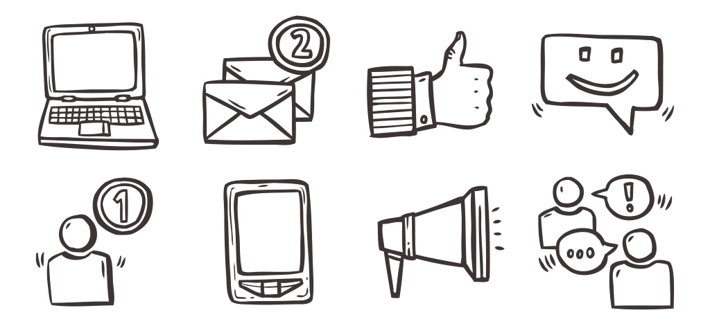 communication app icons